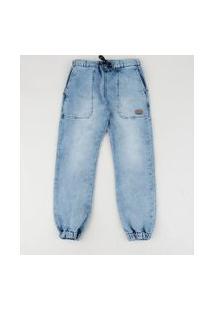 Calça Jeans Infantil Jogger Azul
