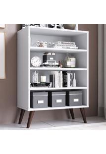 Estante Para Livros 3 Prateleiras Est110 Branco - Completa Móveis