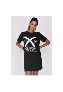Camiseta Feminina Mirat Fashion Bronx Preto