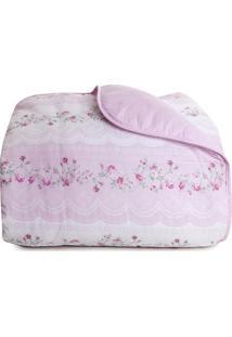 Edredom Royal Casal- Rosa Claro- 200X220Cm- Santsantista