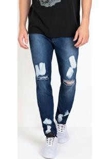 Calça Actual Jeans Com Efeito De Pincel E Rasgos