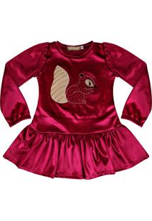 Vestido Em Veludo Douvelin Pink