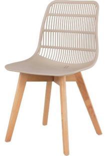 Cadeira Angelita Nude Pes Madeira - 50051 - Sun House