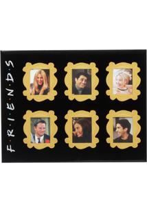 Porta Retrato Friendsâ®- Preto & Amarelo- 18X23X1Cm