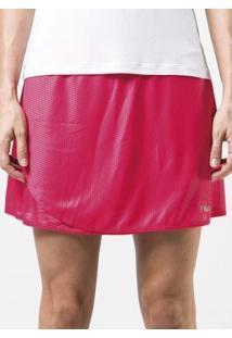 Shorts Saia Fila Spring Rosa E Marinho
