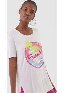 Camiseta Ellus Paradise Off-White