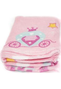 Manta De Microfibra Confort Baby Hazime Princesa Rosa..
