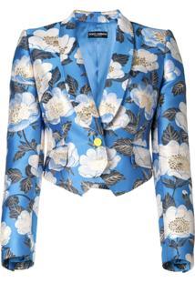 Dolce & Gabbana Jaqueta Cropped - Azul