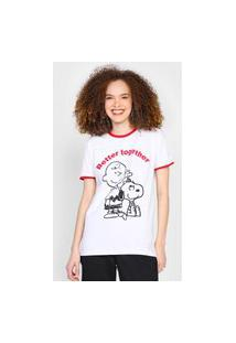 Camiseta Snoopy By Fiveblu Better Together Branca