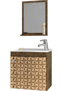 Conjunto P/ Banheiro Siena Madeira Rústica Bechara