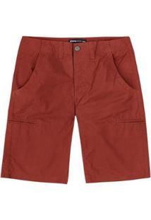 Bermuda Hering Básica Bolsos Embutidos Masculina - Masculino-Vermelho
