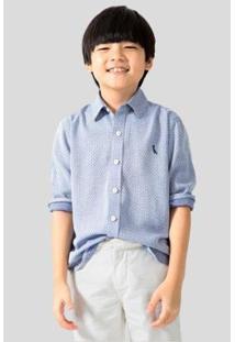 Camisa Infantil Regular Visco Reserva Mini Masculina - Masculino-Azul Claro