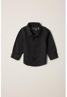 Camisa Bebê Pf Ml Tinturada Reserva Mini Masculina - Masculino-Preto