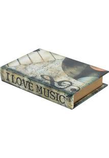 Livro Caixa Music Bege