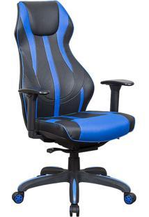 Cadeira Gamer Blitz Preta E Azul
