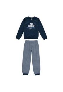 Pijama Infantil Bebê Inverno Super Filho Malwee Kids