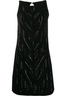 Ermanno Scervino Vestido De Tricô - Preto