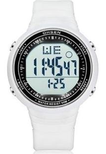 Relógio Ohsen Digital - Unissex-Branco