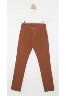 Calça Jeans Express Tito Caramelo Marrom