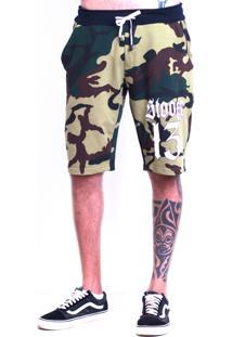 Bermuda Stooge Stg 13 Camuflada Verde