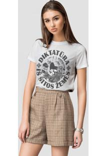 Camiseta Basica Joss Caveira Círculo Branco