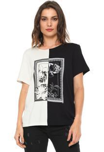 Camiseta Forum Estampada Preta/Branca