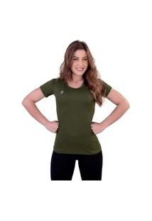Camiseta Punnto Feminina Manga Curta Porus Poliamida
