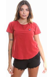 Camiseta Estonada De Algodão Le Julie Vermelha - Kanui