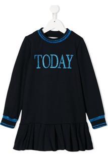 Alberta Ferretti Kids Vestido De Moletom Today - Azul