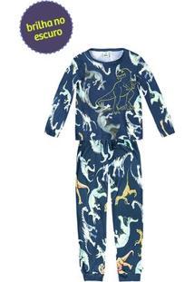 Pijama Infantil Menino Estampado Com Manga Longa E Que Brilha No Escuro Puc [] []