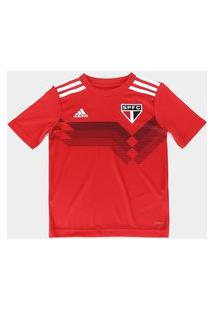 Camisa Sáo Paulo Infantil Treino 70 Anos Adidas - Vermelho Ev6202