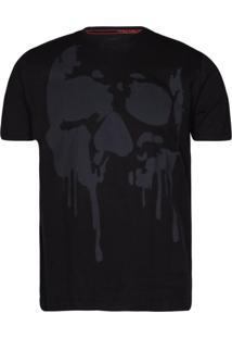 Camisetas Khelf Camiseta Masculina Caveira Preto