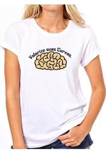 Camiseta Coolest Valorize Suas Curvas Feminina - Feminino-Branco