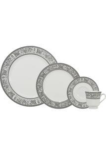 Aparelho De Jantar, Chá E Café Porcelana Schmidt 42 Peças - Dec. Kate