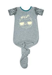 Body Pouch Hello - Masculino-Mescla
