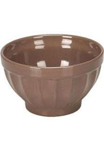 Tigela Bowl De Cerâmica Retrô 570Ml Marrom Marrom