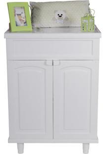 Gabinete Para Banheiro Em Plástico Com Tampo Liso Clássica Astra Branco