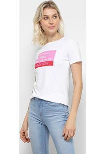Camiseta Calvin Klein Ckj Mc Est Love Feminina - Feminino