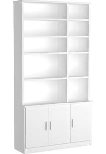 Estante Livraria 3 Portas 1280 Branco M Foscarini - Tricae