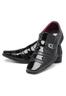 Sapato Social Masculino Mr Shoes Verniz Preto