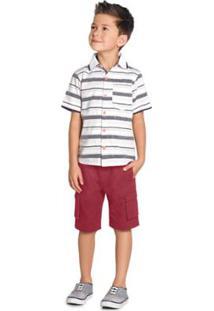 Camisa Infantil Trick Masculina - Masculino-Laranja