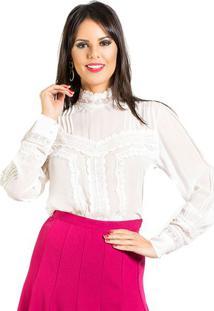 Camisa Seda E Guipir Fabiana Milazzo
