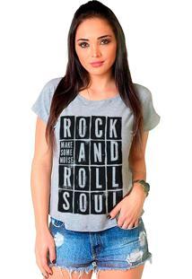 Camiseta Shop225 Rock And Roll Mescla