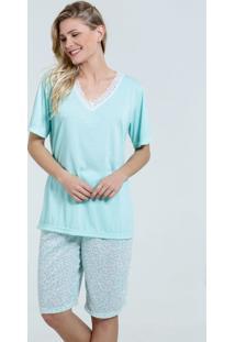 Pijama Feminino Bermudoll Floral Renda Marisa