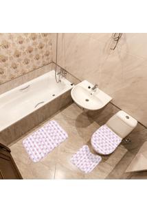 Jogo De Banheiro Estrela Do Mar Rosa Único
