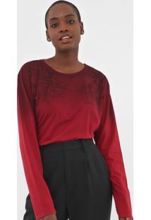Camiseta Calvin Klein Jeans Galhos Vermelha - Vermelho - Feminino - Algodã£O - Dafiti
