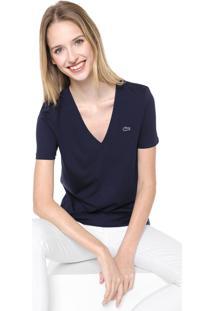 Camiseta Lacoste Logo Azul-Marinho