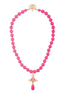 Vivienne Westwood Choker Neon Pearl - Rosa