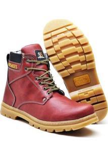 Bota Masculina Adventure Snap Shoes - Masculino-Vermelho