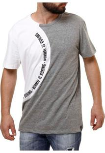 f08d2fd7c9 Camiseta Manga Curta Masculina Fido Dido Cinza Branco